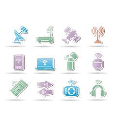wireless communication vector image