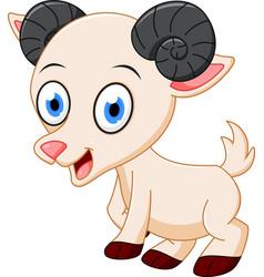 happy goat cartoon vector image vector image