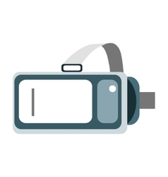 Helmet virtual reality VR on a white background vector image