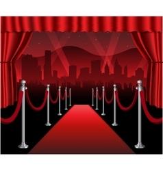 Red carpet movie premiere elegant event hollywood vector image vector image