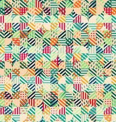 retro fabric circles seamless pattern vector image