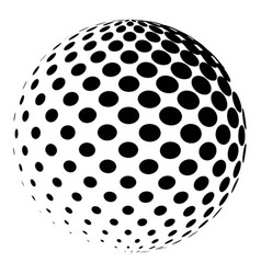 sphere with a halftone pattern dotted orb design vector image vector image