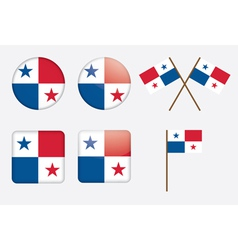 badges with flag of Panama vector image