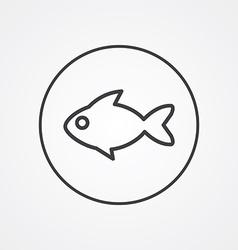 fish outline symbol dark on white background logo vector image