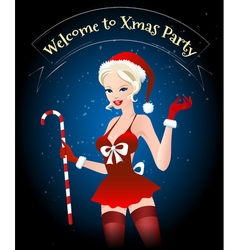 Welcome to Xmas Party vector image vector image