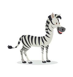 zebra cartoon icon in flat design vector image vector image