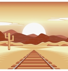 a railway and in the vector image