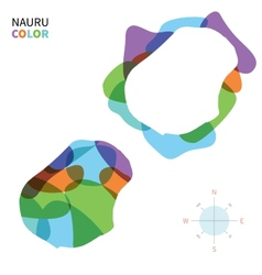 Abstract color map of Nauru vector