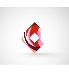 Abstract geometric company logo square rhomb vector image
