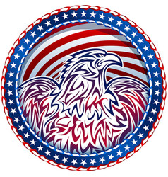 American eagle natioal symbol usa fourth july vector