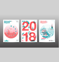 Annual report 201820192020 cover brochure vector