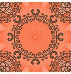 Arabesque motif Seamless doodle flower frame vector