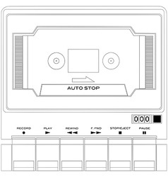 audio tape cassette player vector image