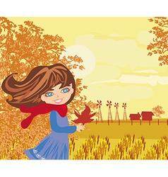 Autumn walk vector