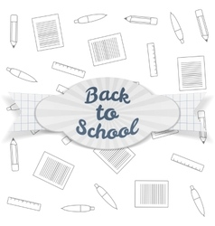 Back to School Sale realistic Badge with Text vector