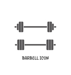 barbell icon simple flat style vector image