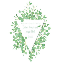 beautiful triangular frame for wedding invitation vector image