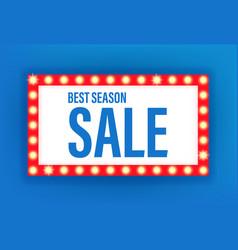 Best season sale illuminated retro frame template vector