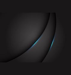 blue light on dark grey grey metallic curve vector image