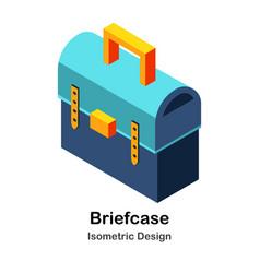Briefcase isometric vector