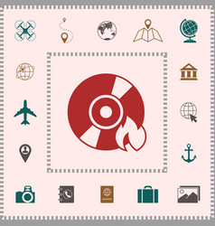 burn cd or dvd icon elements for your design vector image