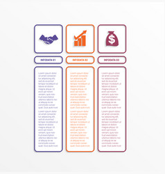 business infographics template with 3 options vector image