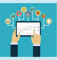 Business management concept vector