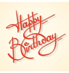 Calligraphy happy birthday vector