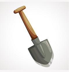 cartoon shovel for mining vector image