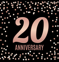 celebrating 20 anniversary emblem template design vector image