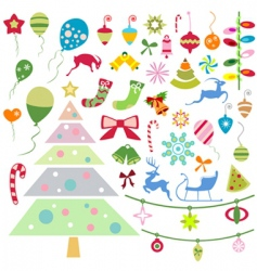 Christmas design element vector image
