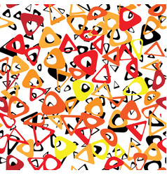 Circle abstract bio chain pattern vector
