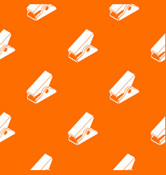 Clothespin pattern orange vector