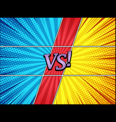 Comic duel bright background vector