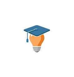 creative lamp idea genius logo vector image
