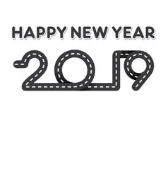 creative new year 2019 design vector image