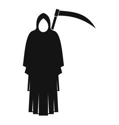 Death with scythe icon simple style vector