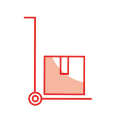 Delivery cart boxes icon vector