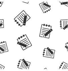 document with pencil seamless pattern background vector image