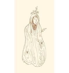 Dryad tree nymph vector image