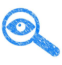 Examine eye grunge icon vector