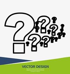 Flow questions design vector