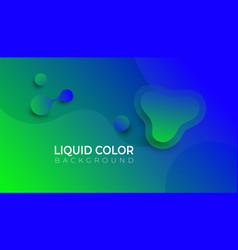 fluid shapes composition eps10 vector image