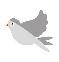 Flying dove icon image vector