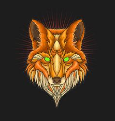 Fox head ornament vector