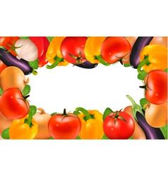 Frame made vegetables vector