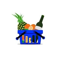 Full basket vector image