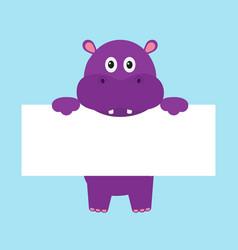 Funny hippo hippopotamus behemoth hanging vector