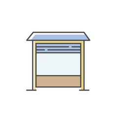 Garage rgb color icon vector
