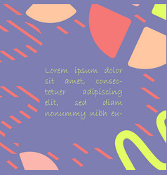 geometric shapes on bright violet background vector image